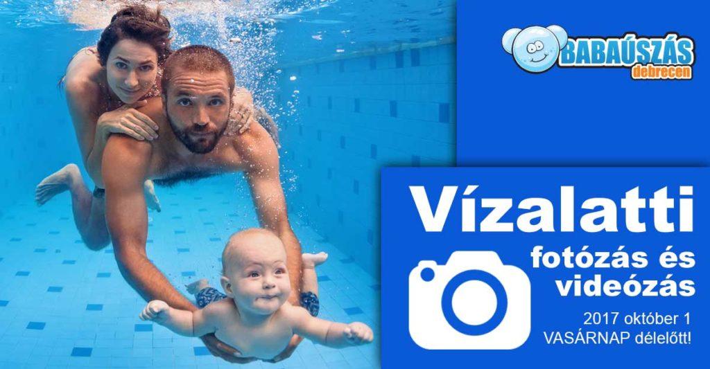 babaúszás vízalatti fotózás